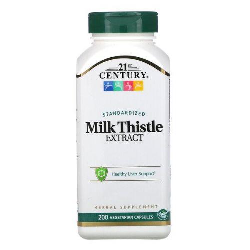 21st Century, 21st Century Health Care, экстракт расторопши пятниской, стандартизированный, 200 вегетарианских капсул