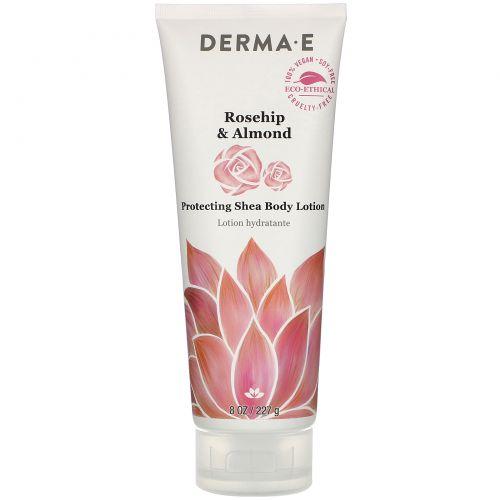 Derma E, Protecting Shea Body Lotion, Rosehip & Almond,  8 oz (227 g)