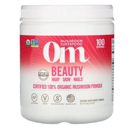 OM Organic Mushroom Nutrition, Красота, грибной порошок, 7.14 унций (200 г)