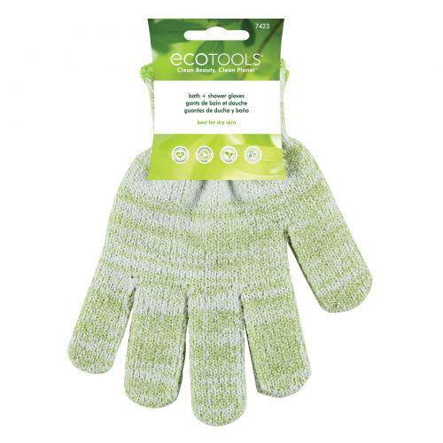 EcoTools, Перчатки для ванны и душа, 1 пара