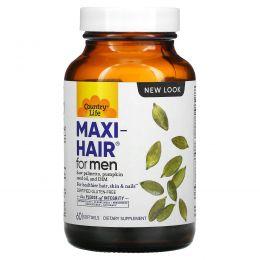 Country Life, Maxi Hair для мужчин, 60 желатиновых капсул