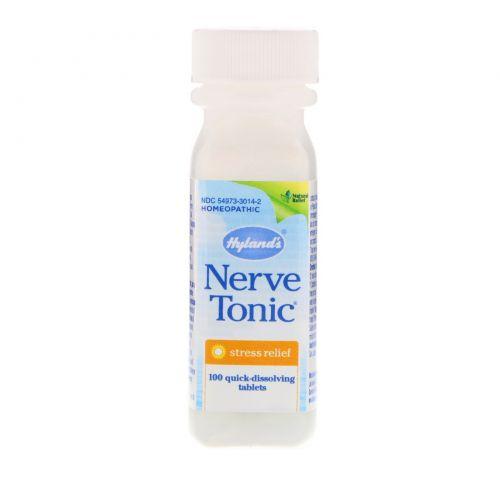 Hyland's, Пищевая добавка «Тоник для нервов», для снятия стресса, 100 таблеток