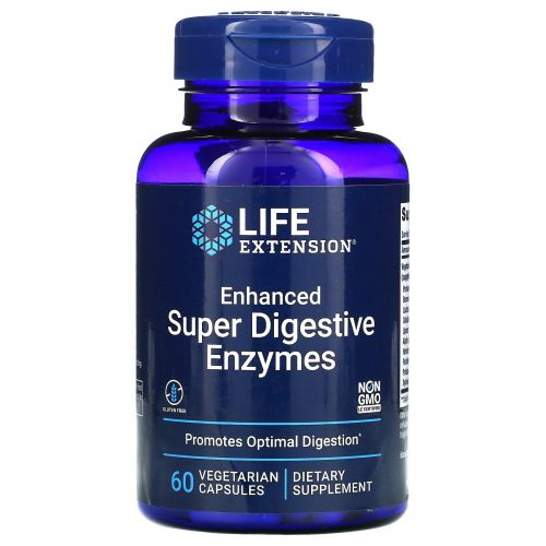 Life Extension, Enhanced Super Digestive Enzymes, 60 вегетарианских капсул