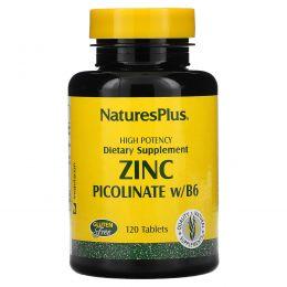 Nature's Plus, Пиколинат цинка с витамином B-6, 120 таблеток
