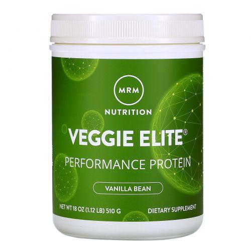 MRM, Smooth Veggie Elite Performance Protein, Vanilla Bean, 18 oz (510 g)