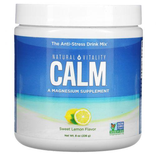Natural Vitality, CALM, The Anti-Stress Drink Mix, Organic Sweet Lemon Flavor, 8 oz (226 g)