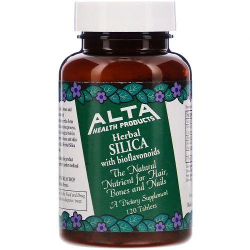 Alta Health, Растительный органический кремний с биофлавоноидами, 120 таблеток