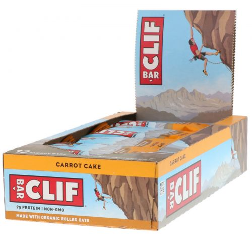 Clif Bar, Carrot Cake Energy Bars, 12 Bars, 2.40 oz (68 g) Each
