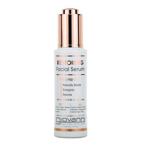 Giovanni, Restoring Facial Serum, Vitamin C, 1.6 fl oz (47 ml)