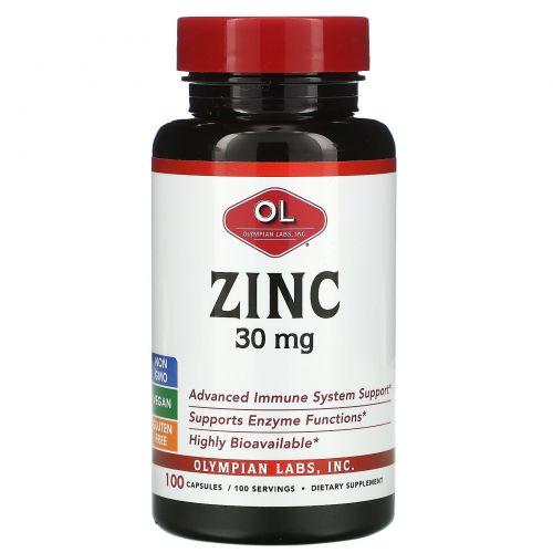 Olympian Labs, Zinc, 30 mg , 100 Capsules