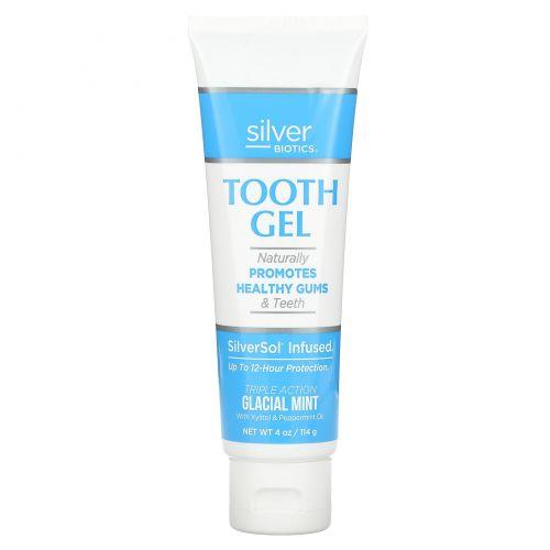 American Biotech Labs, SilverSol зубная паста, с ксилитом, ледяная мята, 4 жидких унций (118 мл)