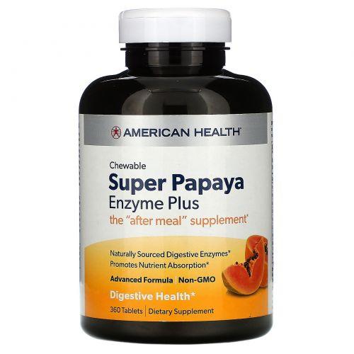 American Health, Ферменты папайи Плюс, 360 жевательных таблеток
