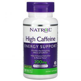 Natrol, Natrol High кофеин, 200 мг, 100 таблеток