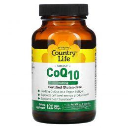 Country Life, Коэнзим Q10, 100 мг, 120 веганских капсул