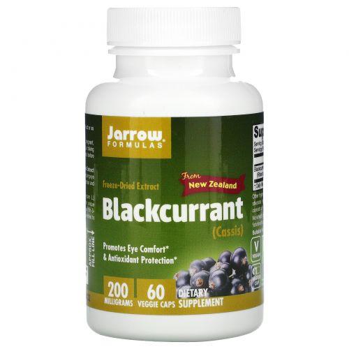 Jarrow Formulas, Черная смородина, 200 мг, 60 овощных капсул