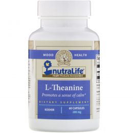 NutraLife, L-теанин, 200 мг, 60 капсул