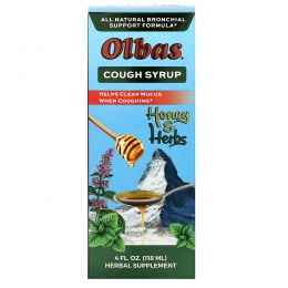 Olbas Therapeutic, Сироп от кашля для поддержки бронхов, 4 жидкие унции (118 мл)