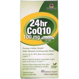 Genceutic Naturals, Коэнзим Q10 24 Часа, 100 мг, 60 капсул