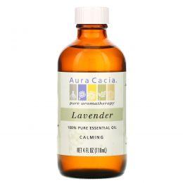 Aura Cacia, 100% Эфирное Масло Лаванды, Расслабляющее, 4 жидкие унции (118 мл)