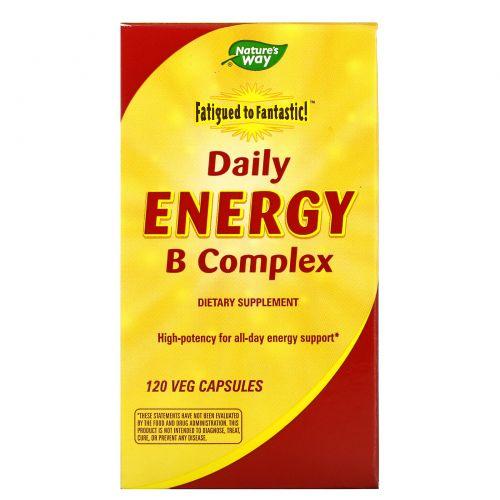 Enzymatic Therapy, Fatigue to Fantastic!, комплекс витаминов группы B для повседневного приема, 120 капсул в растительной оболочке