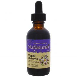 NuNaturals, Жидкая ванильная стевия с экстрактом ванили от Singing Dog, 2 жидких унции (59 мл)