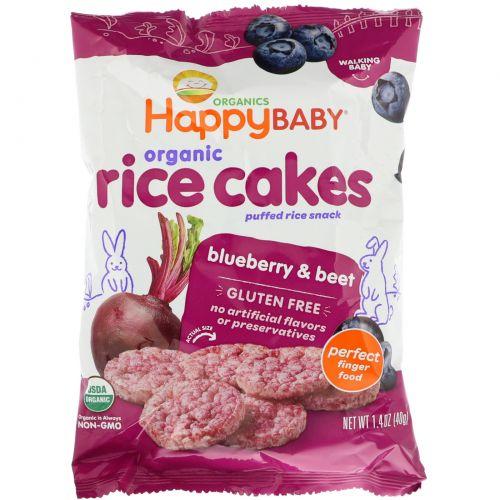 Nurture Inc. (Happy Baby), Happy Munchies, хлебцы, черника и свекла, 40 г (1,4 унции)