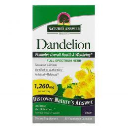 Nature's Answer, Одуванчик, 1260 мг, 90 растительных капсул