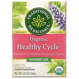 Traditional Medicinals, Healthy Cycle, без кофеина, 16 чайных пакетиков, .85 унц. (24 г)