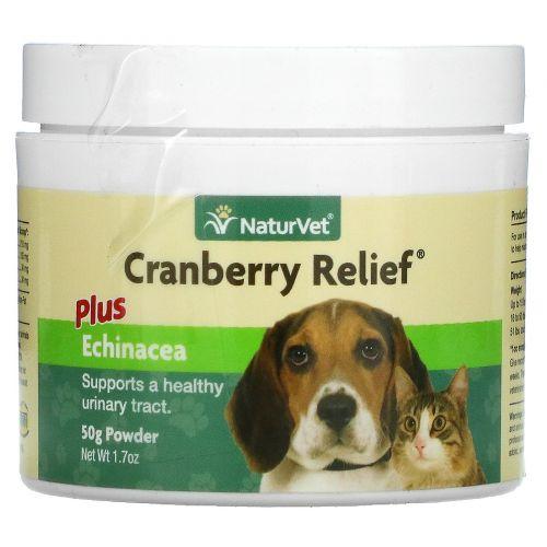 NaturVet, Клюква плюс эхинацея, для здоровья мочевого пузыря у собак и кошек, 1,7 унции (50 г) порошок