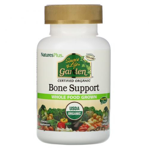 Nature's Plus, Source of Life Garden, Organic Bone Support , 120 Vegan Capsules
