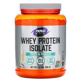 Now Foods, Изолят сывороточного белка, со вкусом натуральной ванили, 1.8 фунтов (816 г)