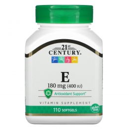 21st Century, E-400, 110 желатиновых капсул