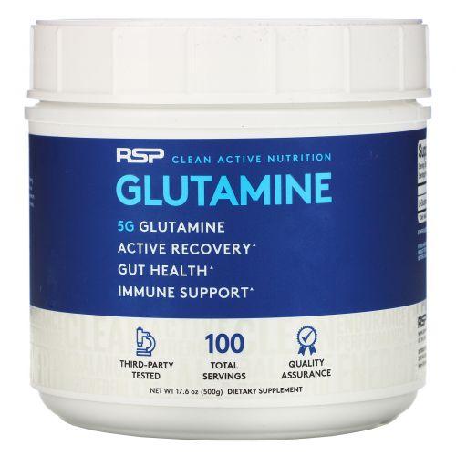 RSP Nutrition, Микронизированный глутамин в порошке, 17,6 унций (500 г)