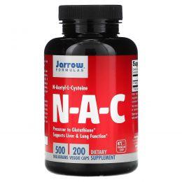 Jarrow Formulas, N-A-C, N-Acetyl-L-Cysteine, 500 mg, 200  Veggie Caps