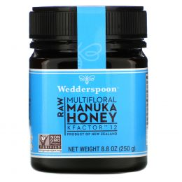 Wedderspoon, 100%-ный сырой мед мануки, КФактор 12, 8,8 унции (250 г)