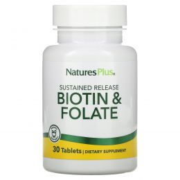 Nature's Plus, Biotin & Folate, 30 Tablets