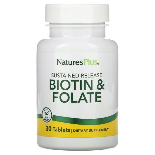 Nature's Plus, Biotin & Folate, 30 Tablets