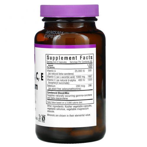 Bluebonnet Nutrition, Бета-каротин, C, E и селен, 120 капсул в растительной оболочке