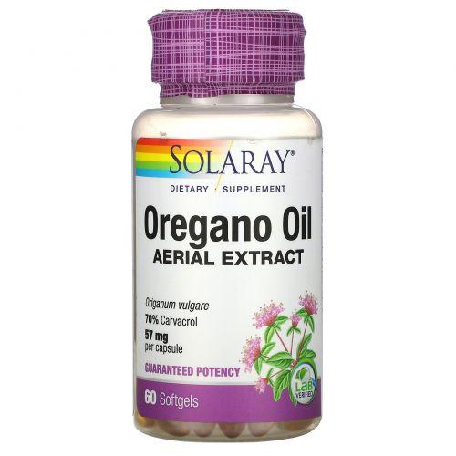 Solaray, Масло орегано, 70% карвакрол, 60мягких таблеток