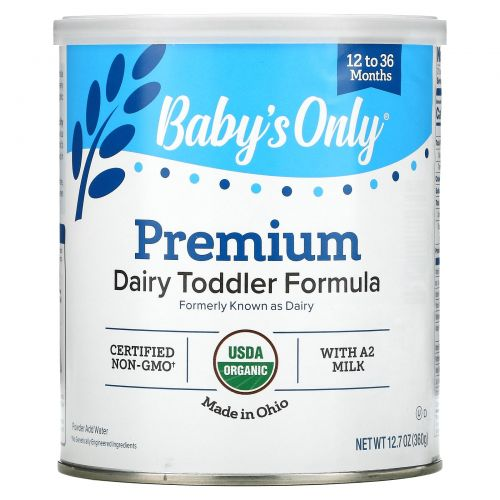 Nature's One, Baby's Only Organic, Toddler Formula, Dairy, 12.7 oz (360 g)
