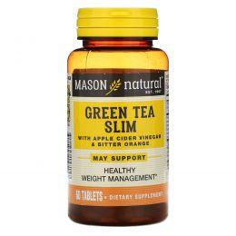 Mason Naturals, Зеленый чай для похудения, 60 таблеток