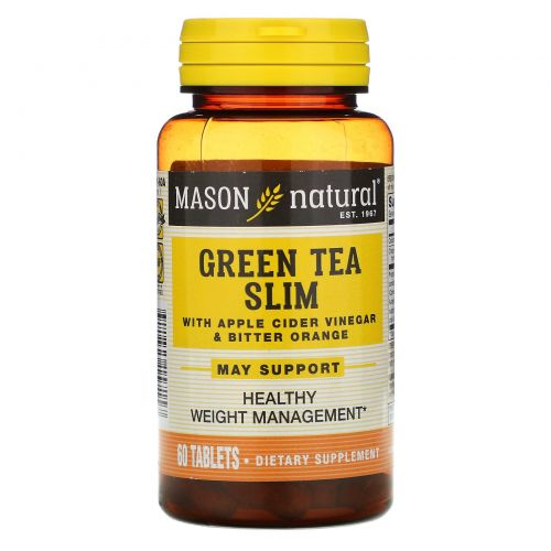 Mason Natural, Зеленый чай для похудения, 60 таблеток