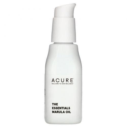 Acure Organics, Масло марулы, уход для всех типов кожи, 1 жидкая унция (30 мл)