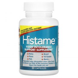 Naturally Vitamins, Histame, пищевая добавка от непереносимости пищевых продуктов, 30 капсул