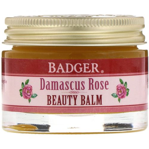 Badger Company, Бальзам для кожи, дамасская роза, 1 унция (28 г)