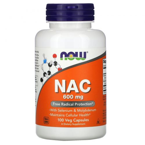 Now Foods, NAC, Важный антиоксидант 600 мг, 100 капсул