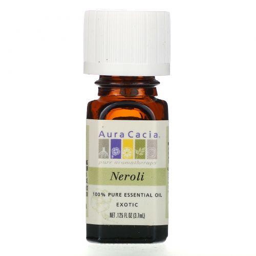 Aura Cacia, 100% Эфирное Масло Нероли, Экзотическое, 0.125 жидкой унции (3.7 мл)