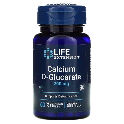 Life Extension, Кальций D-глюкарат, 200 мг, 60 растительных капсул