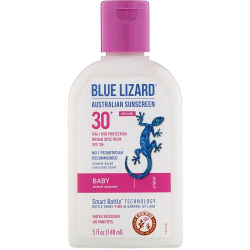 Blue Lizard Australian Sunscreen, Солнцезащитное средство для детей, SPF 30+, 5 жидких унций (148 мл)