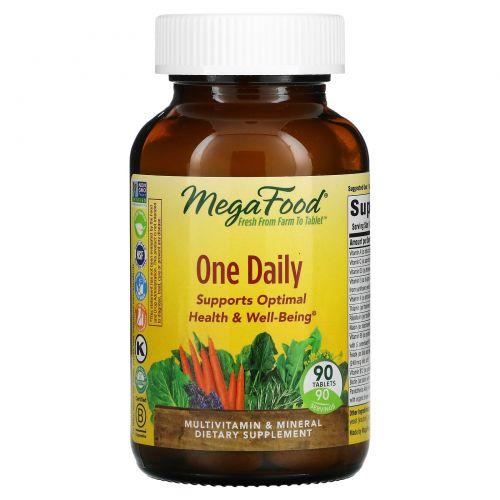 "MegaFood, Мультивитамин ""Раз в день"", 90 таблеток"